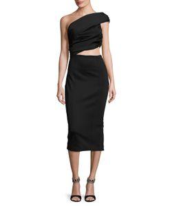 Misha Collection | Beradonna Asymmetrical Sheath Dress