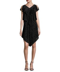 Anna Sui | Embroidered Cap Sleeve Shift Dress