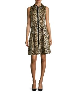 Carolina Herrera | Cotton Leopard Printed Shirtdress