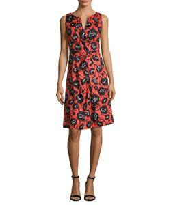 Carolina Herrera | Cotton Printed Flare Dress