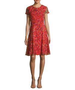 Carolina Herrera | Silk Chiffon Printed Flared Dress