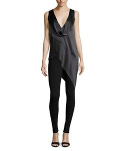 Narciso Rodriguez | Silk Placket Asymmetrical Top