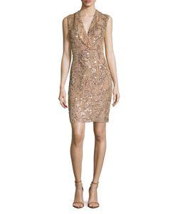 Jenny Packham   Sequin Back Vent Gown