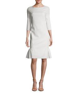 Oscar de la Renta | Silk Boat Neck Sheath Dress