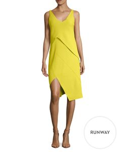 Narciso Rodriguez | Crepe Asymmetrical Seam Sheath Dress