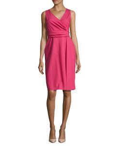 Valentino | Solid Surplice A-Line Dress