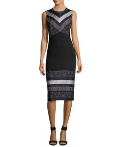 Prabal Gurung | Striped Combo Sheath Dress