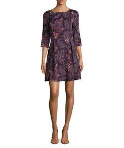 Suno | Silk Printed Day Dress