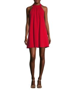 Badgley Mischka | Gathered Trapeze Dress