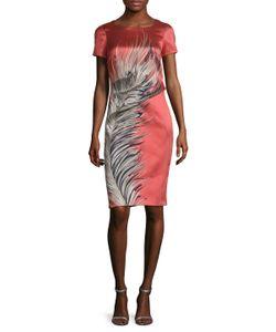 Carolina Herrera | Feather Jacquard Sheath Dress