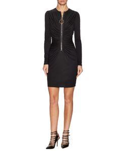 Givenchy | Front Ruche Hoop Zipper Sheath Dress