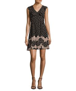 Anna Sui | Silk Printed V Neck Flared Dress