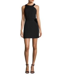 Halston Heritage | Crepe 3d Pallette Placement Sheath Dress