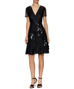 Prabal Gurung | Silk Sequin Embroidered Flared Dress
