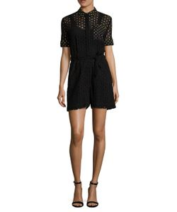Mary Katrantzou | Macrame Embroide Panel Playsuit
