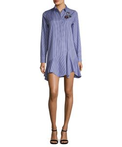 Dior | Cotton Checkered Asymmetrical Shift Dress