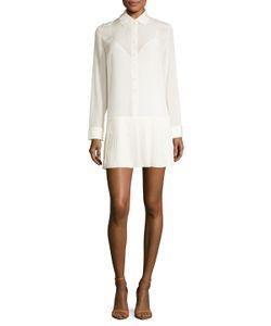 Dior | Silk Dropped Waist Shirtdress
