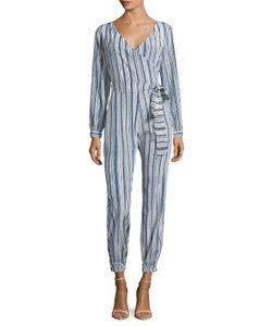 CALYPSO St. Barth | Mahonia Silk Striped Jumpsuit