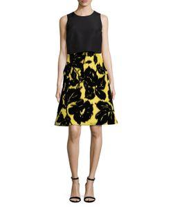 Carolina Herrera | Silk Embroidered A Line Dress