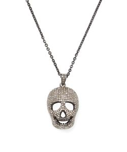 Arthur Marder Fine Jewelry | 3.50 Total Ct. Pave Diamond Skull Head Necklace