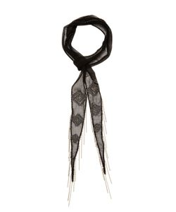 Chanluu | Diamond Beaded Skinny Scarf 70 X 2