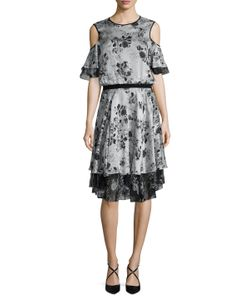 Prabal Gurung | Silk Cold Shoulder Fla Dress