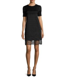 Prabal Gurung | Alabaster Obsidian Textu Cotton Shift Dress