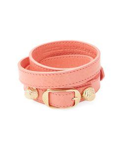 Balenciaga | Classic Buckle Leather Wrap Bracelet