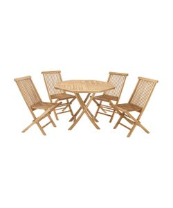 Uma | Wooden Dining Set 5 Pc