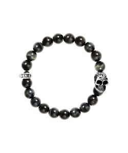 King Baby | Tiger Eye Stretch Skull Bracelet