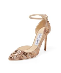 Jimmy Choo | Lucy 100 Sequin Embroidered Suede Pump