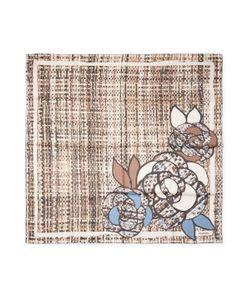 Chanel | Vintage Camellia Flower Silk Scarf 34 X 34