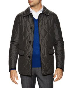 Burberry London | Silk Quilted Leather Trim Jacket