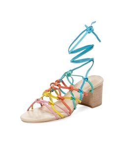 Maiden Lane | Simple Leather Lace-Up Sandal