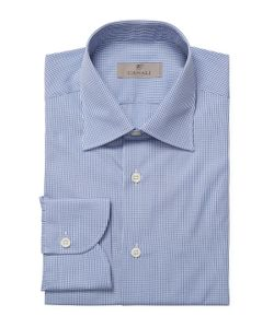 Canali | Checke Barrel Cuff Dress Shirt