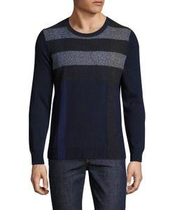 Burberry London   Feldon Crewneck Striped Cotton Sweater