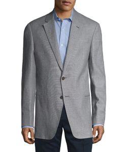 Armani Collezioni | Linen Solid Notch Lapel Sportcoat