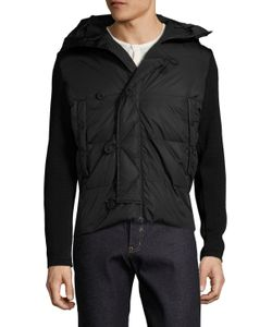 Moncler Grenoble | Virgin Wool Quilted Contrast Cardigan