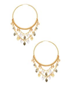 Chanluu | Faceted Round Marquise Multi Stone Statement Earrings