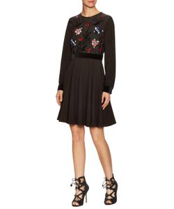 Manoush | Lovely Bird Embroide Fit And Flare Dress