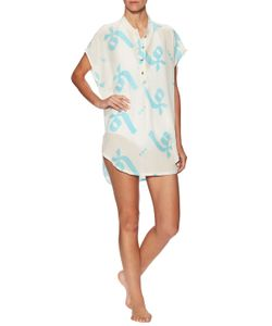 Lemlem | Adia Cotton Printed Dolman Shirt