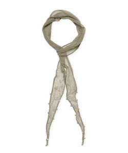 Chanluu | Embroidered Coin Skinny Scarf 70 X 2