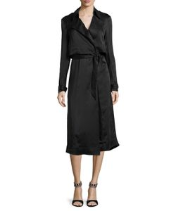 Misha Collection | Gelloma Silk Trench Coat
