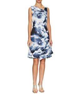 Carolina Herrera | Jacquard Asymmetrical Seam A Line Dress