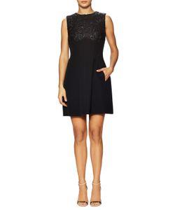 Dior | Cotton Lace Paneled Flared Dress