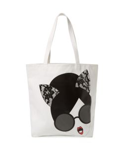 Alice + Olivia | Stacey Cat Face Canvas Tote