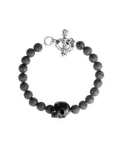 King Baby | Onyx Bead Skull Bracelet