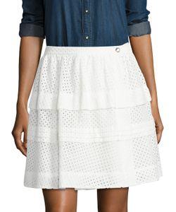 Iro | Gaetane Cotton Tiered Eyelet Skirt