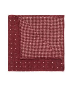 Brunello Cucinelli | Dots Print Wool Pocket Square