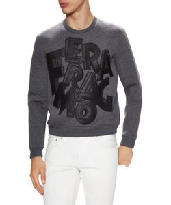 Salvatore Ferragamo | Loge Embroidered Crewneck Sweatshirt